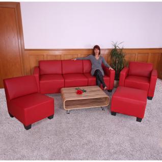 Modular Sofa-System Garnitur Lyon 3-1-1-1 rot - Vorschau 3