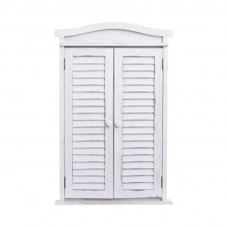 Wandspiegel Badspiegel Badezimmer Spiegelfenster mit Fensterläden, 71x46x5cm ~ shabby weiß - Vorschau 5