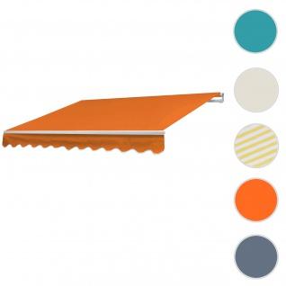 Alu-Markise T791, Gelenkarmmarkise Sonnenschutz 4, 5x3m ~ Polyester Terrakotta