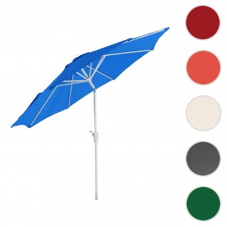 Sonnenschirm N18, Gartenschirm, Ø 2, 7m neigbar Polyester/Alu 5kg ~ blau