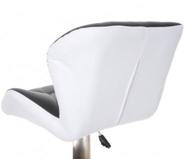 2x Barhocker HWC-A92, Barstuhl Tresenhocker, höhenverstellbar Kunstleder ~ schwarz, Fuß gebürstet - Vorschau 5