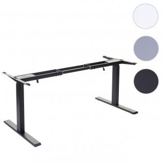 Gestell HWC-D40, variables Tischgestell für Schreibtisch, elektrisch höhenverstellbar Memory 29kg ~ schwarz