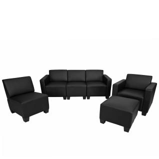 Modular Sofa-System Garnitur Lyon 3-1-1-1 ~ schwarz