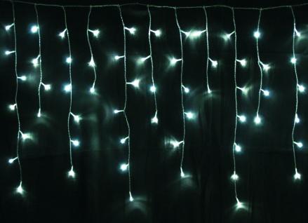 LED Lichterkette LD09, Lichtervorhang Eiszapfen, für Außen und Innen ~ 120 LEDs, weiß