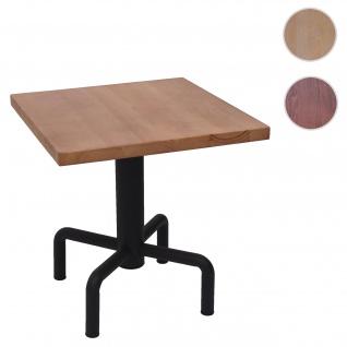 Bistrotisch HWC-G68, Beistelltisch Bartisch Loungetisch, Gastro-Qualität industrial 73x70x70cm ~ naturfarben