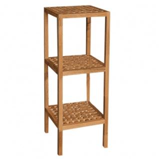 Standregal Regal, Holz, Walnuss, geölt 3 Böden