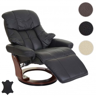 MCA Relaxsessel Calgary 2, Fernsehsessel Sessel, Echtleder 150kg belastbar