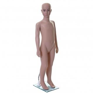 Schaufensterpuppe HWC-E37, Kind Schaufensterfigur Puppe Mannequin Schneiderpuppe, lebensgroß beweglich 110cm