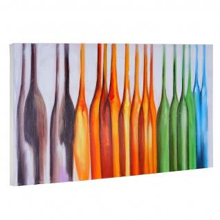 Ölgemälde Flaschen, 100% handgemaltes Wandbild Gemälde XL, 135x70cm - Vorschau 3