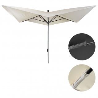 Luxus-Sonnenschirm HWC-A37, Marktschirm Gartenschirm, 3x3m (Ø4, 24m) Polyester/Alu 10kg ~ creme ohne Ständer