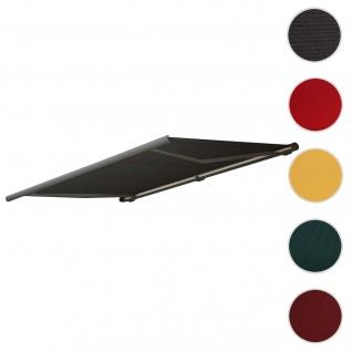 Bezug für Markise T122, Vollkassette Ersatzbezug Sonnenschutz 4x3m ~ Acryl anthrazit