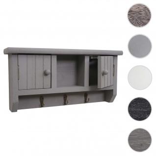 Schlüsselbrett HWC-A48, Schlüsselkasten Schlüsselboard mit Türen, Massiv-Holz ~ grau - Vorschau 1