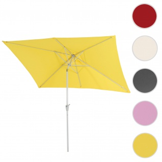 Sonnenschirm N23, Gartenschirm, 2x3m rechteckig neigbar, Polyester/Alu 4, 5kg ~ gelb
