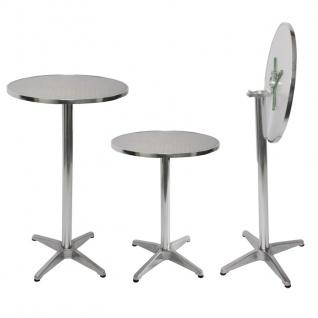 Set Stehtisch + Stehtischhusse HWC-J30, Bistrotisch Tischhusse, klappbar höhenverstellbar Ø 60cm ~ Husse creme-beige - Vorschau 3