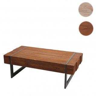 Couchtisch HWC-A15a, Wohnzimmertisch, Tanne Holz rustikal massiv 40x120x60cm ~ braun