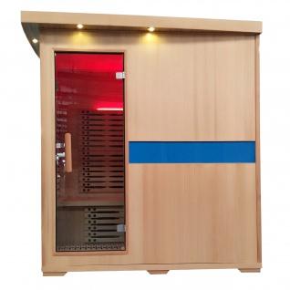 Infrarotkabine HWC-D49, Infrarotsauna Wärmekabine, Musik LED Sicherheitsglas Sauerstoff ~ 4 Personen, Karbonheizung