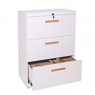 Hängeregisterschrank HWC-A10, Aktenschrank Büroschrank Stahlschrank, A4 abschließbar ~ 103x76x46cm weiß