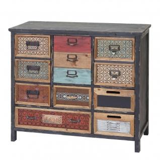 Apotheker-Schrank HWC-A43, Kommode, Tanne Holz massiv Vintage Shabby-Look 90x84x32cm