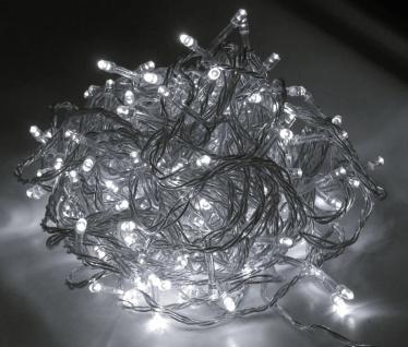 LED Lichterkette LD05, Leuchtkette, für Außen und Innen ~ Kabel schwarz, 300 LEDs, weiß