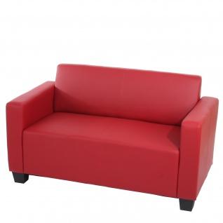 Modular Sofa Lyon Kunstleder rot ~ 2er Sofa
