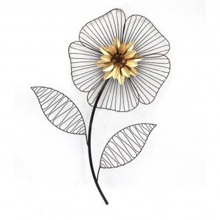 Wanddekoration H168, Gitterfigur Wandbild Wand-Deko, Metall Blume