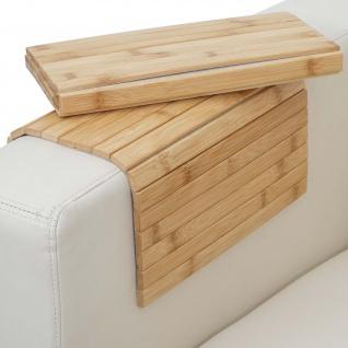 2x Armlehnen-Ablage HWC-E72, Sofa-Butler Flexablage, Bambus flexibel 45x30cm