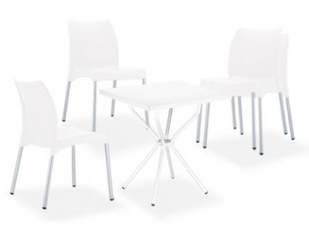 Sitzgruppe CP411, Gartengarnitur weiß
