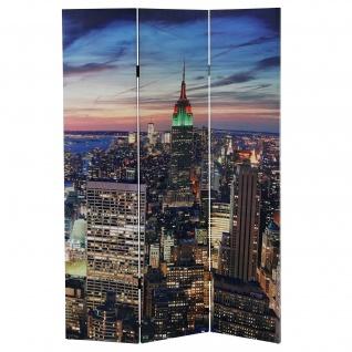 LED-Paravent New York, Timer, netzbetrieben 180x120cm 24 LEDs