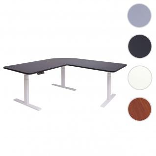 Eck-Schreibtisch HWC-D40, Bürotisch Computertisch, elektrisch höhenverstellbar Memory 178x178cm 84kg ~ schwarz, weiß