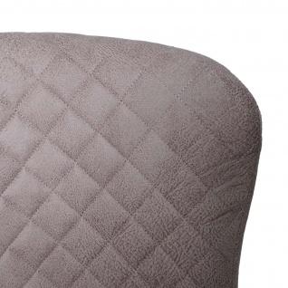 Barhocker HWC-H79, Barstuhl Tresenhocker, Vintage Metall Fußablage ~ Stoff/Textil grau - Vorschau 5