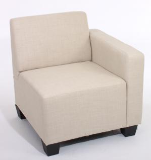 Modular Sofa Lyon Stoff/Textil creme Seitenteil rechts