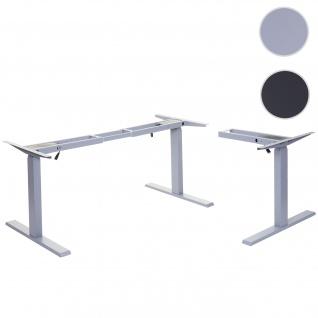 Gestell HWC-D40, variables Tischgestell für Eck-Schreibtisch, elektrisch höhenverstellbar Memory 45kg