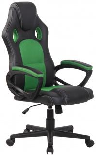 Bürostuhl CP588, Schreibtischstuhl Drehstuhl Bürosessel Racing-Chair Gaming-Chair, Kunstleder ~ grün