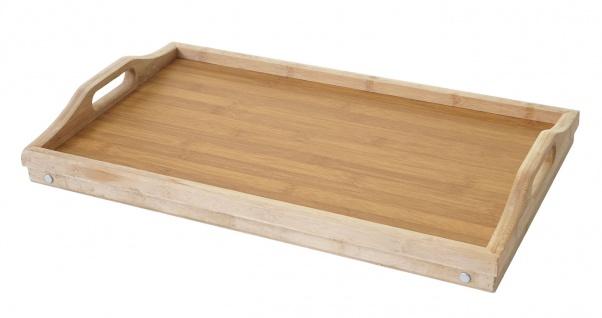 Tablett HWC-B88, Serviertablett Holztablett Frühstückstablett Dekotablett, Bambus 21x64x30cm - Vorschau 2