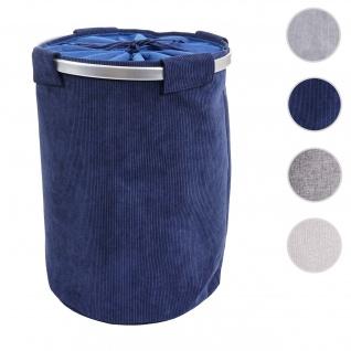 Wäschesammler HWC-C34, Laundry Wäschekorb Wäschebox Wäschesack Wäschebehälter mit Netz, 55x39cm 65l ~ cord blau