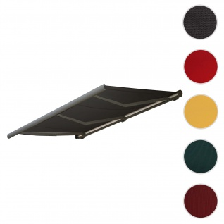 Bezug für Markise T123, Vollkassette Ersatzbezug Sonnenschutz 4, 5x3m ~ Polyester anthrazit