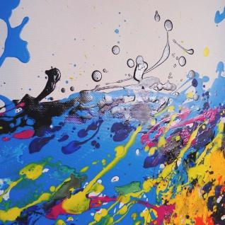 Ölgemälde Wave, 100% handgemaltes Wandbild XL, 120x60cm - Vorschau 2