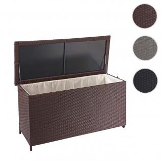 Poly-Rattan Kissenbox HWC-D88, Gartentruhe Auflagenbox Truhe ~ Premium braun, 63x135x52cm 320l