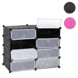Schuhschrank HWC-B66, Schuhablage Schrank Steckregal Aufbewahrung, 8 Fächer 73x92x36cm ~ schwarz