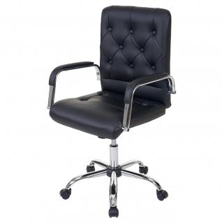 Bürostuhl Blackpool, Drehstuhl Schreibtischstuhl Chefsessel, Kunstleder schwarz