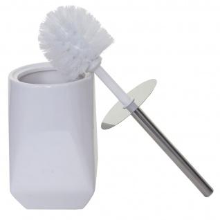 5-teiliges Badset HWC-C71, WC-Garnitur Badezimmerset Badaccessoires, Keramik ~ weiß - Vorschau 5