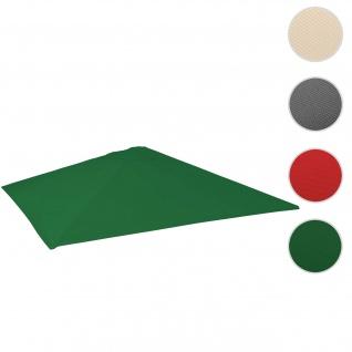 Bezug für Gastronomie Sonnenschirm HWC-D20, Sonnenschirmbezug Ersatzbezug, 5x5m (Ø7, 2m) Polyester ~ dunkelgrün