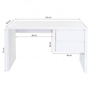 B-Ware Schreibtisch HWC-D74, Computertisch Bürotisch, hochglanz weiß 75x120x50cm - Vorschau 5