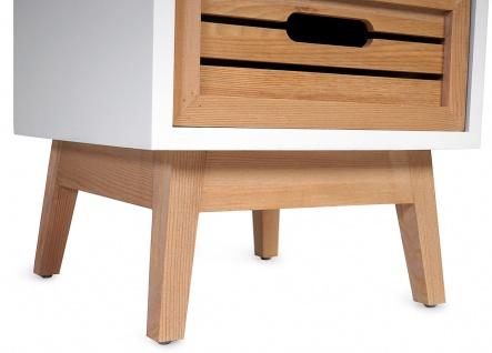 Kommode Larvik, Rollladen- Schubladenschrank, Retro-Design 71x30x30cm 1 Schublade - Vorschau 4