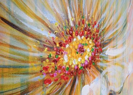 Ölgemälde Weiße Blume, 100% handgemalt, 100x100cm - Vorschau 3