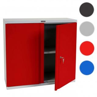 Aktenschrank Valberg T330, Metallschrank, 2 Türen 84x92x37cm ~ rot