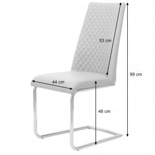 6x Esszimmerstuhl HWC-F31, Stuhl Küchenstuhl Freischwinger, Kunstleder - Vorschau 3