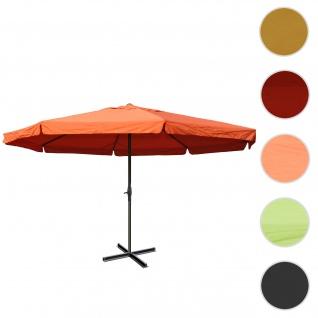 Sonnenschirm Meran Pro, Gastronomie Marktschirm mit Volant Ø 5m Polyester/Alu 28kg ~ terracotta ohne Ständer