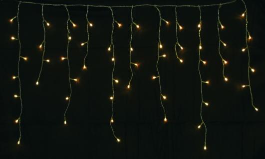 LED Lichterkette LD09, Lichtervorhang Eiszapfen, für Außen und Innen ~ 120 LEDs, warmweiß