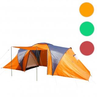 Campingzelt Loksa, 4-Mann Zelt Kuppelzelt Igluzelt Festival-Zelt, 4 Personen ~ orange